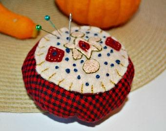 Pincushion, Handmade Pincushion, Needlecraft Novelty Pincushion, Pins and Needles, Seamstress Supplies, Sewing Quilting, Needlecrafts