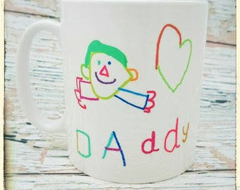 Your child's artwork mug