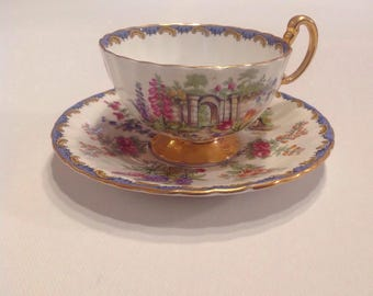 Aynsley Garden Gate  Tea cup and matching saucer