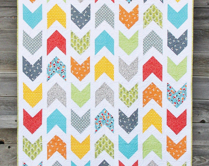 Pow-Wow Quilt Pattern by Cluck Cluck Sew - 4 Sizes- Great Beginner Quilt (W3)