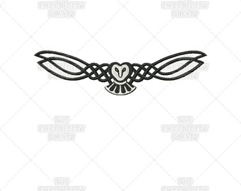 Celtic Owl Animal Knotwork Machine Embroidery Patterns Designs