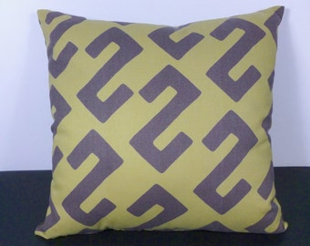Modern Pillow African Ethnic Style in Brown, Olive Green  (F12)