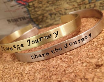 Hand stamped skinny bracelets