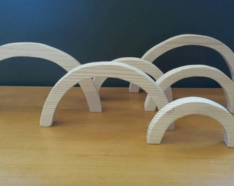 Wooden Archs, Open Ended Play, Loose Parts, Reggio Emilia, Building Blocks