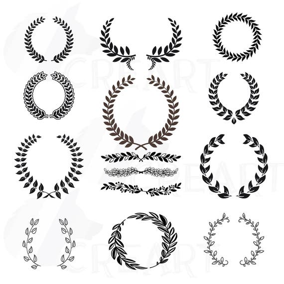 Laurel Wreath Clipart Monogram Frames For Silhouette Wedding
