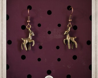 Deer earrings bronze BOB010