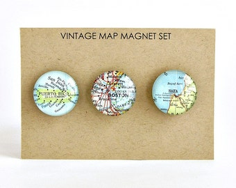 Personalized Wedding Magnets, Travel Themed Wedding, Bridal Shower, Map Engagement Gift, Wedding Map Gifts,