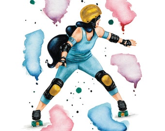 The Dreamer - poster A3 - Roller Derby