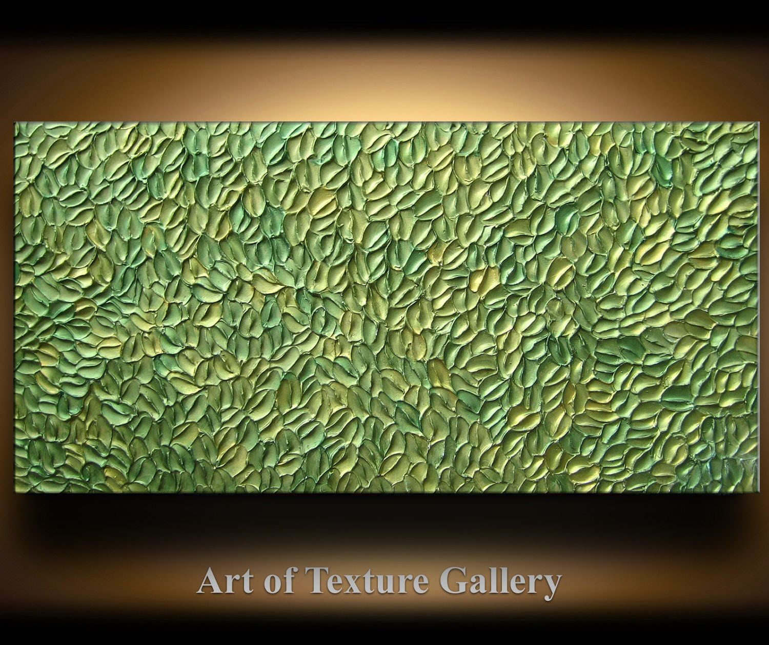 Abstract texture painting 48 x 24 original modern green sage for Texture painting ideas canvas