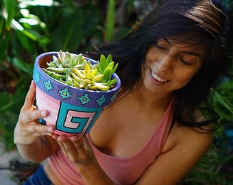 Zapotec Hand Painted Pots