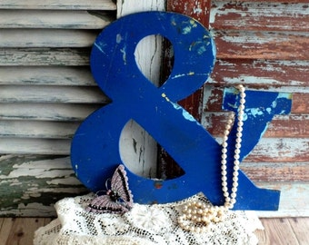 vintage Metal Ampersand Sign or the And Sign Vintage Metal Sign by avintageobsession on etsy