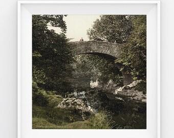 "Vintage Landscape Wall Art || Scotland 1905 || 39.37"" x 27.56"" || 100x70cm"