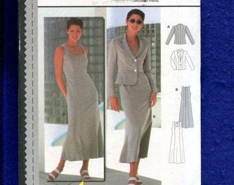Burda 2974 Slimming Fitted Dress & Princess Seam Jacket Sizes 10 to 16 UNCUT