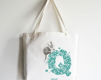 "Personalized ""Q"" for Quokka - Reusable Tote Bag"