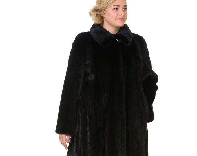 Plus Size Fur Coat,Real Mink Fur Coat F842