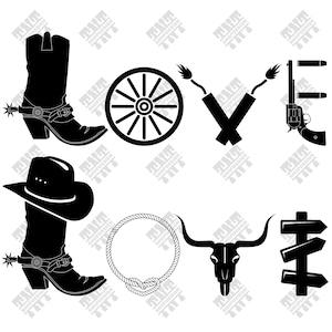 Download Cowboy svg file | Etsy