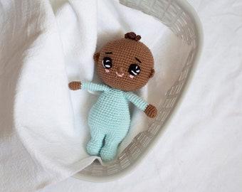 Crochet toy baby boy, amigurumi toy, crochet doll baby gift