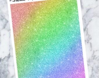 Rainbow Glitter Headers