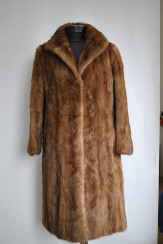 FUR coat luxurious 203 MINK women's full fur coat length Vintage 5RH8ax