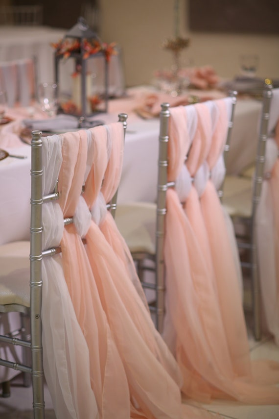 Chiffon Chiavari Chair Sash Wedding Chair Sashes