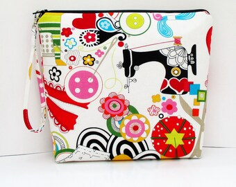 Tall Zippered Pouch, Sew Now Sew Wow, Cosmetic Bag, Knitting Sewing Project Bag