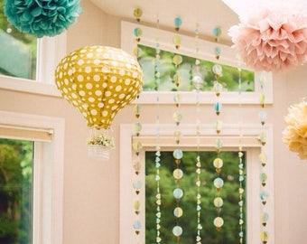 "Pompoms 8( 10""-8"") paper flower, flower balls, wedding decoration, decoration, paper flower poms, baby shower, engagement party decorations"