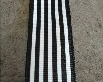 Black and white stripe Ribbon sold by the yard