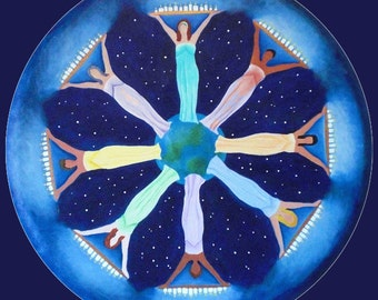 Women Lighting the World  Mandala-  archival print on photo paper