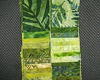 40 PC Set - GRASS Cotton Batik Jelly Roll Strips