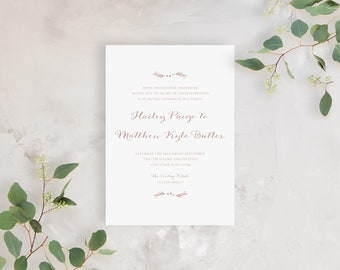 Wedding Invitation Sample - The Hailey Suite