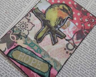 "ACEO ATC one-of-a-kind Original ""HOPE"" Artist Trading Card"