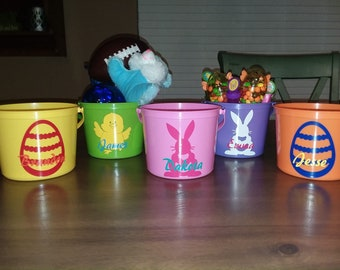 Small Personalized Easter Buckets