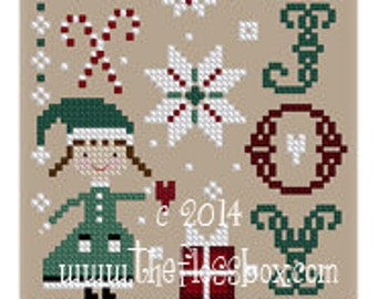 Joy Cross Stitch Pattern