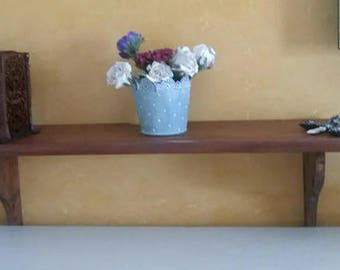 Primitive shelf, wooden shelf hanging, Hanging shelf wall, bookcase to hung, Wooden shelving, home furniture, suspended shelves, lovelymore