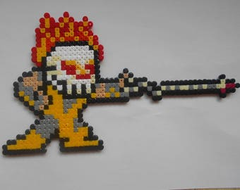 MORTAL KOMBAT Scorpion decorative beaded pixel - Pixel Art - Geek Art