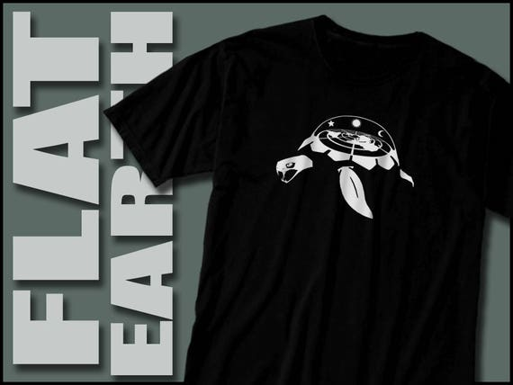 Flat Earth Turtle Shirt Gift For Him Biblical Truther Moon