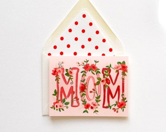 Mom Floral Card