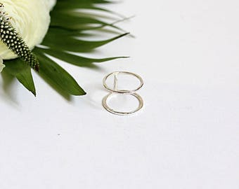 Two rings, 925 sterling silver ring