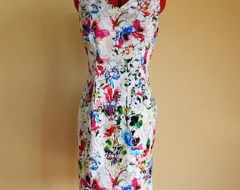 Pretty Floral Dress / Pencil Dress / Shift Dress