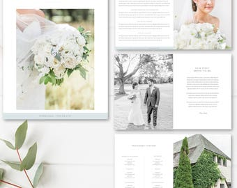 Wedding Photographer Magazine Template, Wedding Price List, Investment Templates - PSD Template,  INSTANT DOWNLOAD