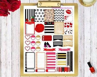Printable Planner Stickers, Erin Condren Planner Stickers and Happy Planner stickers