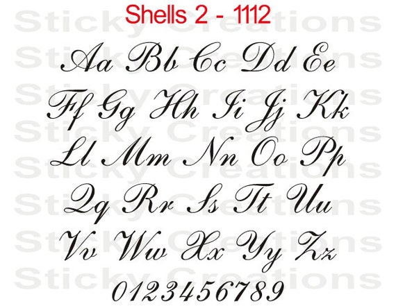 Cursive Letters Font