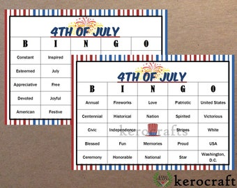 4TH OF JULY BINGO - 40 Cards