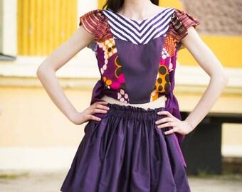 Skirt top set / Rok blouse pak (size S)