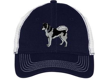 Siberian Husky Baseball Hat - Embroidered.  Siberian Husky Baseball Trucker Cap.  Siberian Husky Mom. Siberian Husky Dad.  Husky Gift. DT607