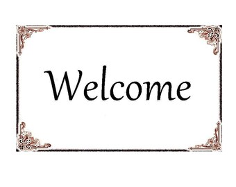 Welcome note card