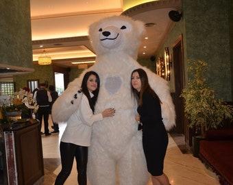 Polar bear costume inflatable