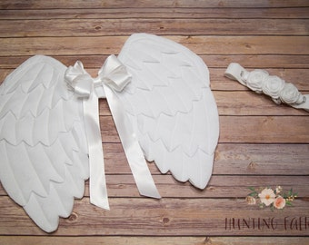 Angel Wings and Halo Headpiece for Pretend Play Dress up