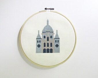 Paris Basilique du Sacré-Cœur cross stitch pattern PDF - Instant download