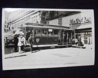 RPPC Cable Car Turn around, San Francisco, CA at The Owl Rexall Drug Store